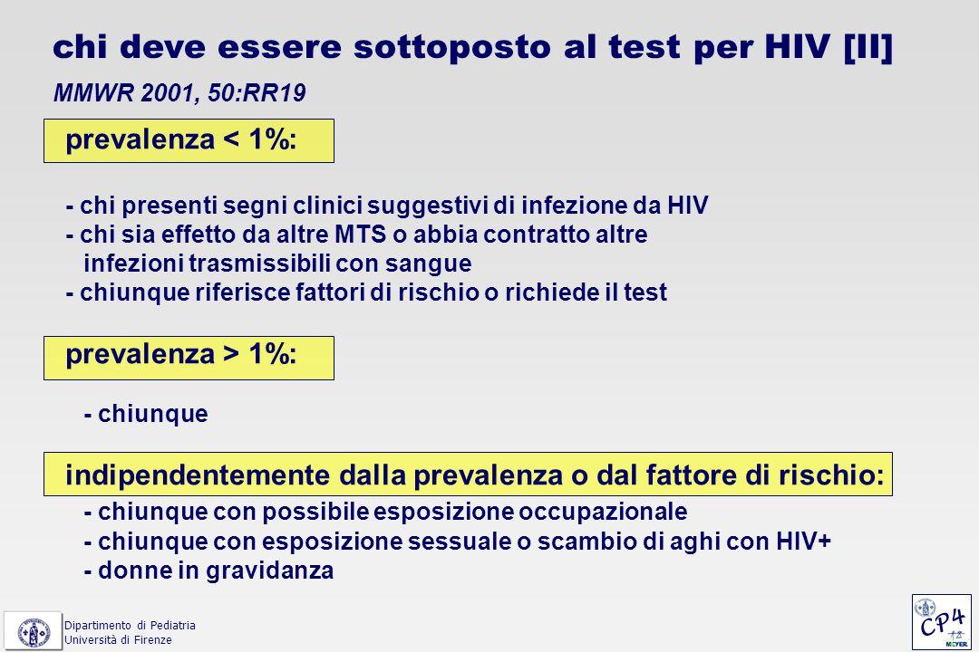 chi deve essere sottoposto al test per HIV [II]